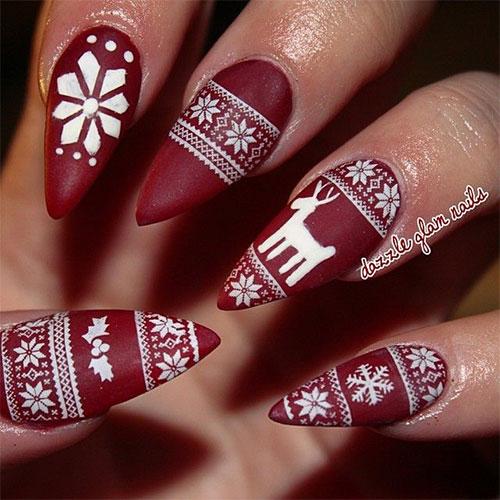 15 Christmas Sweater Nail Art Designs Ideas Trends