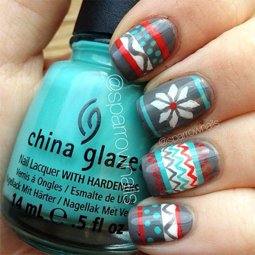 15 Christmas Sweater Nail Art Designs Ideas Trends