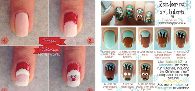 Easy Step By Christmas Nail Art Tutorials For Beginners Learners 2017 Fabulous Designs