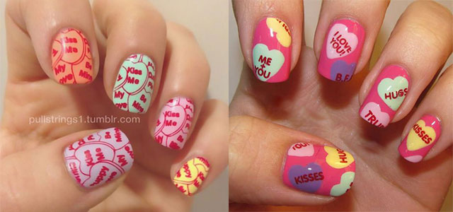 12 Valentine S Candy Heart Nail Art Designs Ideas Trends Stickers 2017 Fabulous