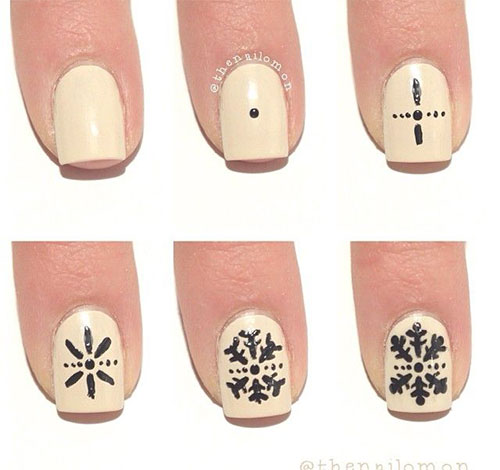 15 Best Step By Winter Nail Art