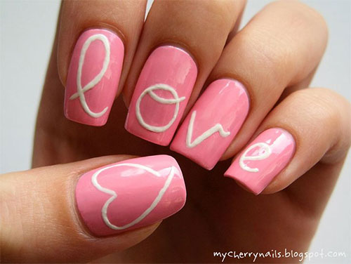 15 Cute Valentines Day I Love You Nail