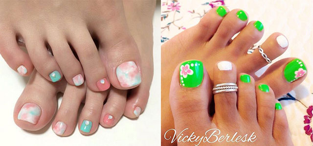 Toe Nail Art Ideas For Spring 2016 3