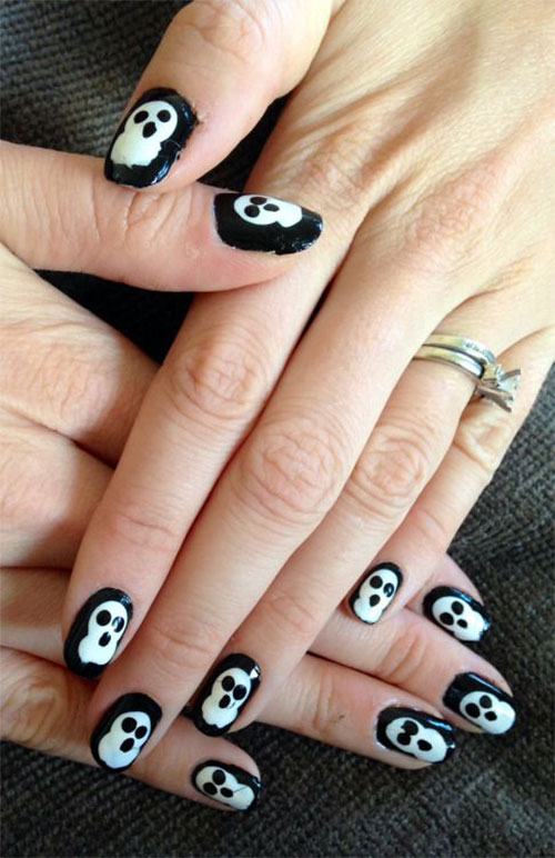 15 Halloween Inspired Ghost Nail Art Designs Ideas