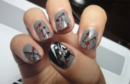 15 Zombie Nail Art Designs Ideas Stickers 2017