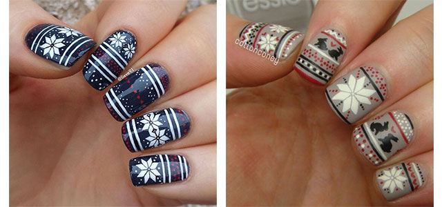 15 Ugly Christmas Sweater Nail Art Designs Ideas Stickers 2017 Xmas Nails Fabulous