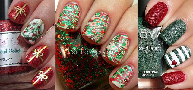15 Red Green Gold Christmas Nail Art Designs Ideas 2017 Xmas Nails Fabulous