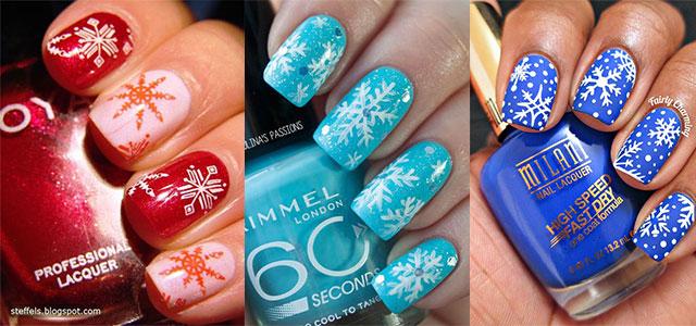20 Christmas Snowflake Acrylic Nail Art Designs Ideas Stickers 2017 Xmas Nails Fabulous