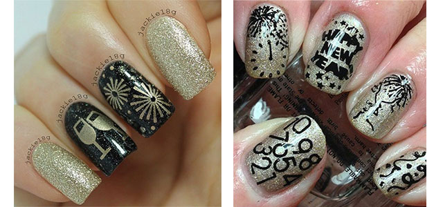 18 Best Hy New Year Nail Art Designs Ideas Stickers 2017