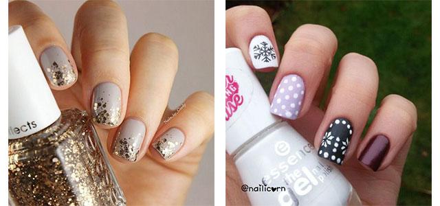 20 Cute Simple Easy Winter Nail Art Designs