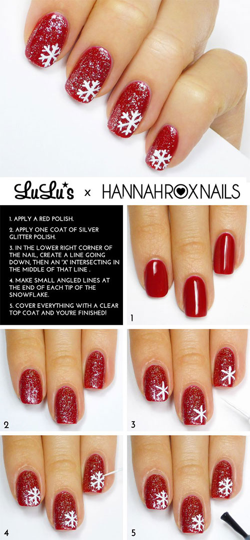 20 Easy Simple Christmas Nail Art Tutorials For Ners