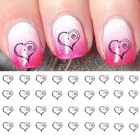 15 Amazing Valentines Day Nail Art Stickers For