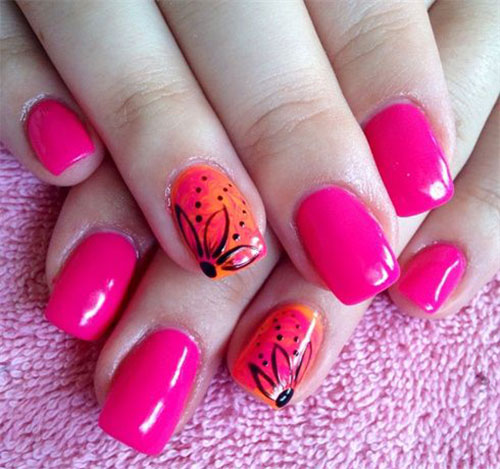 Fantastic Fl Fox 23 Spring Nail Art Designs Check It Out At