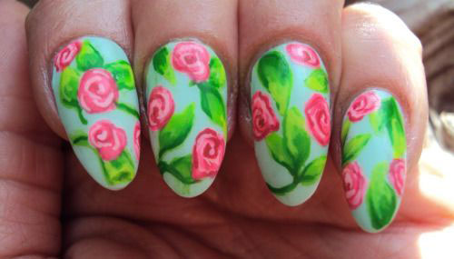 20 Spring Flower Nail Art Designs Ideas 2017