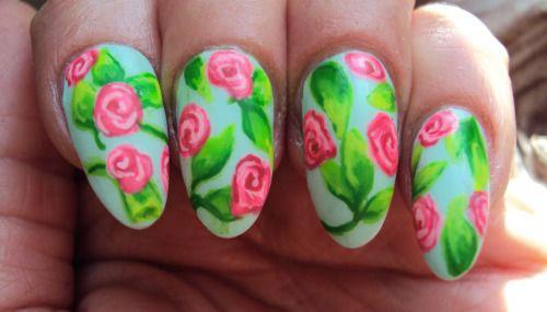 Pink Nail Designs For Short Nails