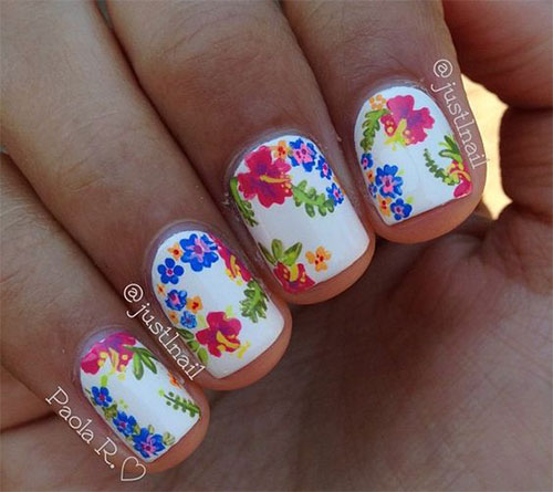 20 Spring Flower Nail Art Designs Ideas 2017