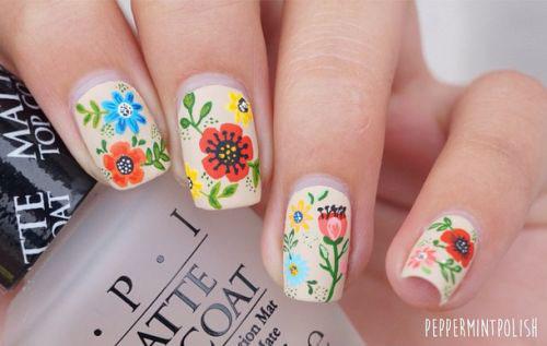 Spring Flower Nail Art Designs Ideas Trends 2016
