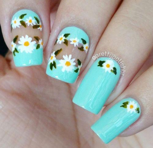 50 Best Cute Simple Spring Nail Art Designs