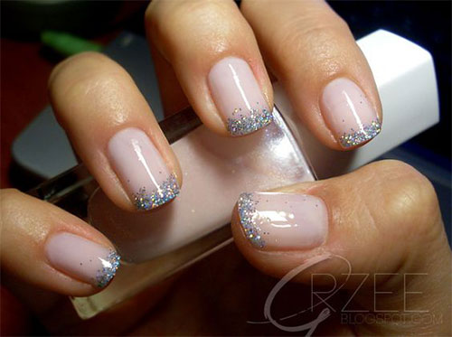 12 Gel French Tip Glitter Nail Art Designs Ideas 2017 Fabulous