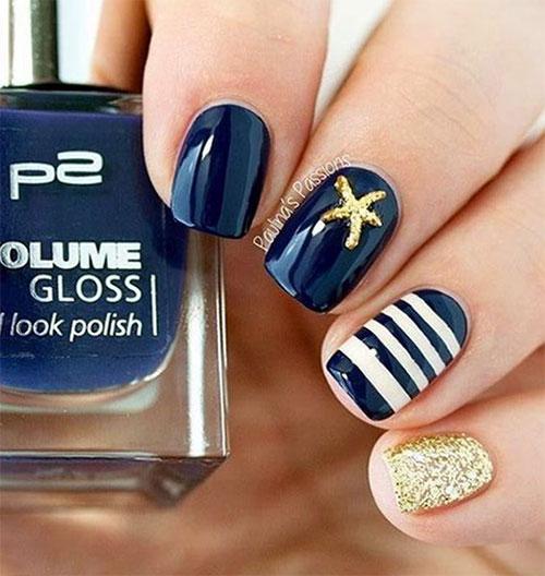 10 Summer Blue Nail Art Designs Ideas 2017