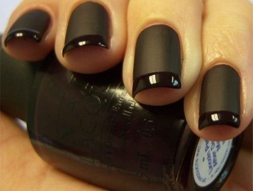 Rock It With This Black Matte Nail Polish And Glam Up By Adding Diamonds