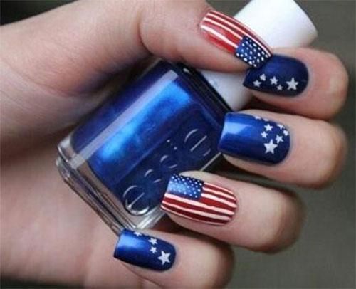 12 4th Of July American Flag Nail Art