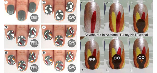 Step By Thanksgiving Nail Art Tutorials For Learners 2017 Fabulous Designs