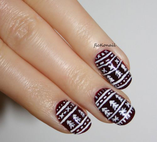 Nail Tutorial 3d Cable Knit Sweater Inspired Art Design