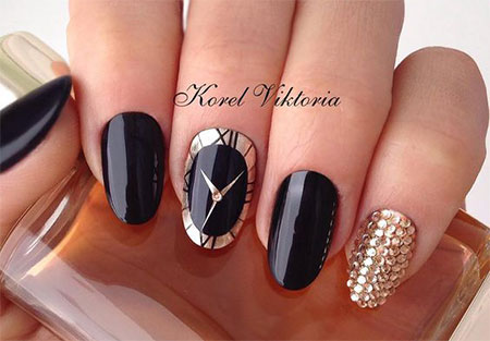 15 Best Hy New Year Eve Nail Art Designs Ideas 2017