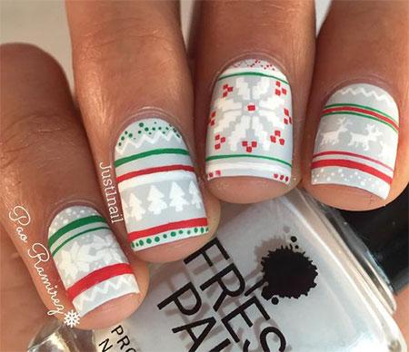 15 Winter Sweater Nails Art Designs Ideas 2017