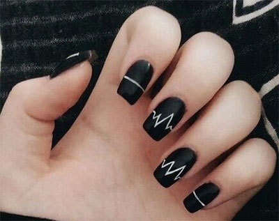 18 Awesome Winter Black Nails Art Designs Amp Ideas 2016