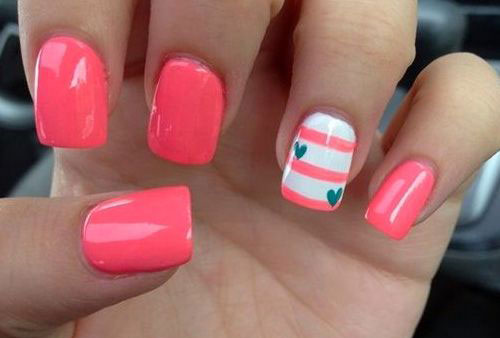 Simple Nail Art 2017 Easy Valentine S Day Designs Ideas