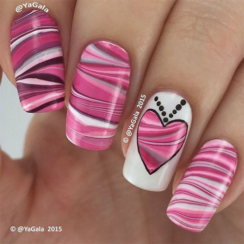 15 Pink Valentines Day Nail Art Designs Amp Ideas 2017