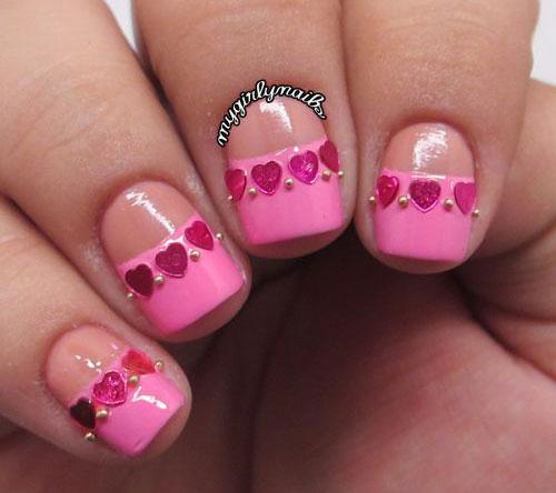 15 Valentines Day Pointy Nail Art Designs Ideas