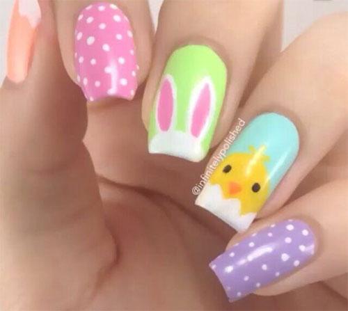 15 Easter Gel Nail Art Designs Ideas 2017