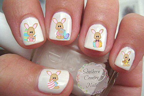 10 Easter Nail Art Stickers Decals 2017 8