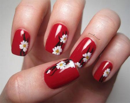 20 Cherry Blossom Spring Nails Art Designs Ideas