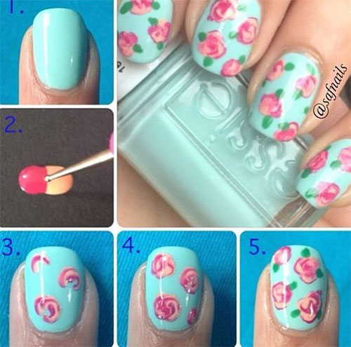25 Easy Simple Spring Nails Art Tutorials For