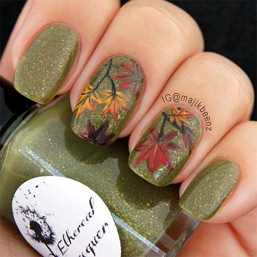 15 Autumn Acrylic Nail Art Designs Ideas 2017