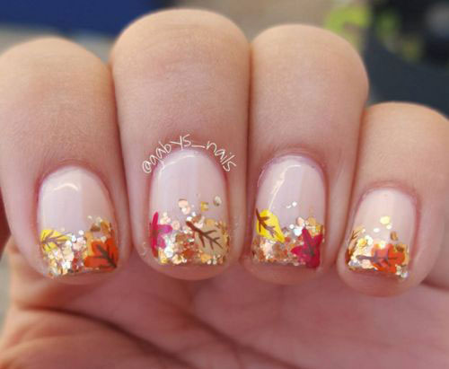 15 Autumn Gel Nail Art Designs Ideas 2017