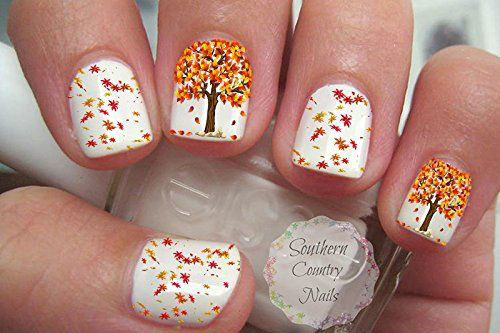 Autumn Nail Art Stickers Decals 2017 5
