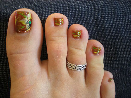 Autumn Toe Nail Art Designs Ideas 2017 Fall