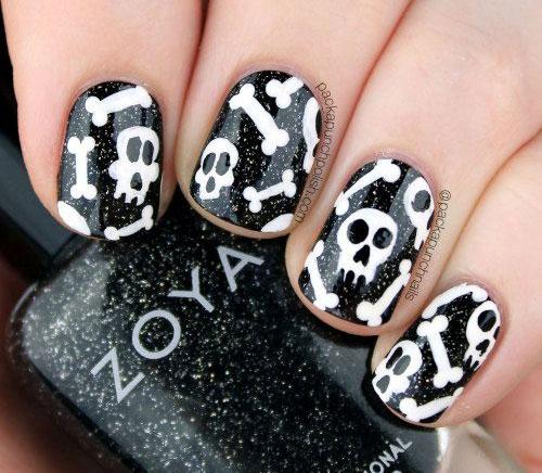 15 Skull Acrylic Nails Art Designs Ideas
