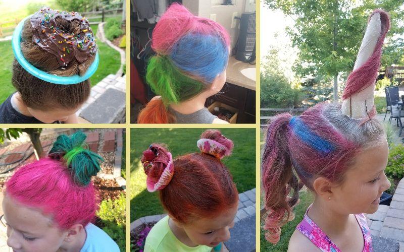 5 Easy Crazy Hair Day Ideas for Girls | Frugal Fun Mom