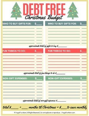 Debt Free Christmas Budget   Frugal Fun Mom