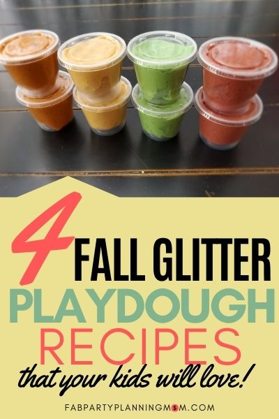 Fall Glitter Playdough Recipes That Your Kids Will Love   FAB Party Planning Mom