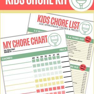 Kids Chore Kit   Frugal Fun Mom