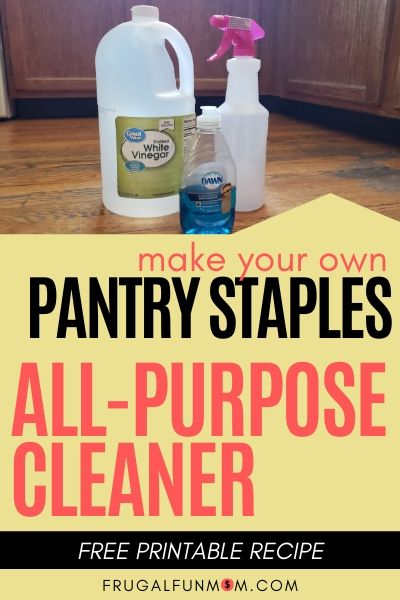 Make Your Own Pantry Staples Series: Homemade All-Purpose Cleaner   Frugal Fun Mom