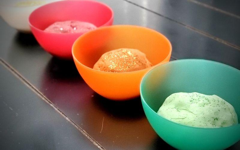 Fall Glitter Playdough - 4 Easy Recipes | Frugal Fun Mom