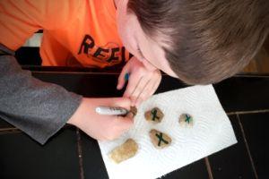 How To Make Sharpie Rock Tic Tac Toe | Frugal Fun Mom